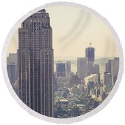 Nyc - Empire State Building Round Beach Towel