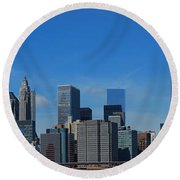 Nyc Financial District Round Beach Towel