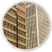 Nyc Highrises Round Beach Towel