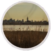 Nyc Landscape Round Beach Towel