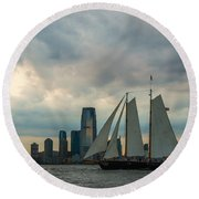 Nyc Pirates Round Beach Towel
