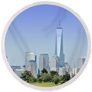 Nyc Skyline From The Park - Image 1666-01 Round Beach Towel