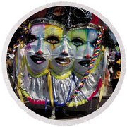 West Indian Day Parade Brooklyn Ny Round Beach Towel