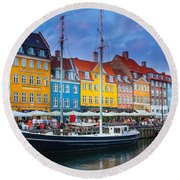 Nyhavn Canal Round Beach Towel