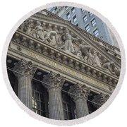 Nyse  New York Stock Exchange Wall Street Round Beach Towel