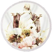 O Divine Mercy Round Beach Towel