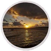 Oahu Sunrise Round Beach Towel