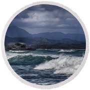 Oahu Surf Round Beach Towel