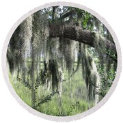Oak And Moss Round Beach Towel