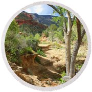 Over Slide Rock Round Beach Towel