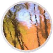 Oak Creek Reflections Round Beach Towel