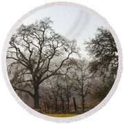 Oak Sillouette Round Beach Towel