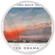Obama Campaign Poster 2012 Round Beach Towel