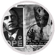 Obama Election Poster Round Beach Towel