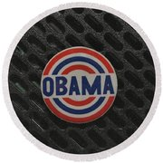 Obama Round Beach Towel by Rob Hans