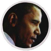 Obama1 Art Round Beach Towel