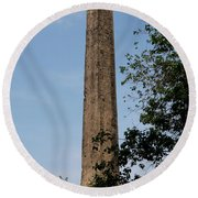 Obelisk - Central Park Nyc Round Beach Towel
