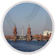 Oberbaum Bridge - Berlin Round Beach Towel