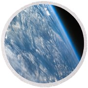 Oblique Shot Of Earth Round Beach Towel