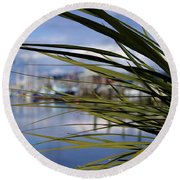 Obscured View Of Percival Landing Round Beach Towel