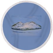 Observation Peak Round Beach Towel by Michele Myers