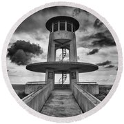 Observation Tower Round Beach Towel