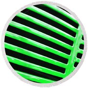 Observe Green Round Beach Towel