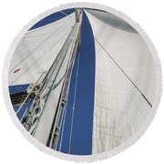 Obsession Sails 2 Round Beach Towel