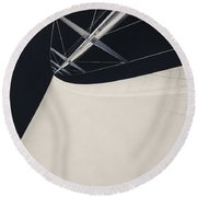 Obsession Sails 4 Black And White Round Beach Towel