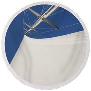Obsession Sails 4 Round Beach Towel