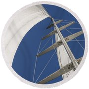 Obsession Sails 5 Round Beach Towel