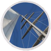 Obsession Sails 6 Round Beach Towel