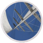 Obsession Sails 7 Round Beach Towel