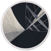 Obsession Sails 8 Black And White Round Beach Towel