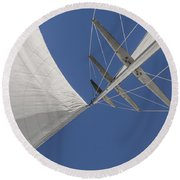 Obsession Sails 8 Round Beach Towel