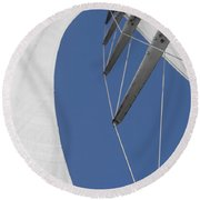 Obsession Sails 9 Round Beach Towel