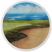 Obstacles To A Beautiful Game Round Beach Towel