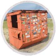 Obx Beach Dumpster Round Beach Towel