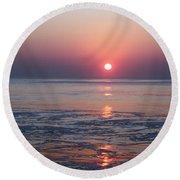 Oc Sunrise1 Round Beach Towel