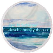 Ocean Assateague Virginia Round Beach Towel