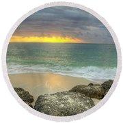 Ocean At Dawn Round Beach Towel