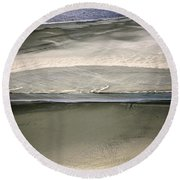 Ocean At Low Tide Round Beach Towel