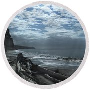 Ocean Beach Pacific Northwest Round Beach Towel