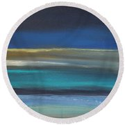 Ocean Blue 2 Round Beach Towel by Linda Woods