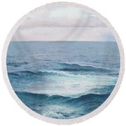 Ocean By Jan Matson Round Beach Towel