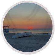 Ocean City New Jersey Sunrise Round Beach Towel