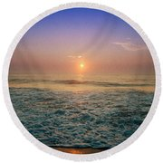 Ocean City Sunrise Round Beach Towel