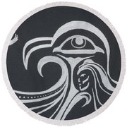 Ocean Eagle Eye Round Beach Towel