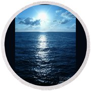 Ocean Fall Round Beach Towel