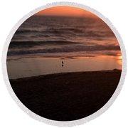 Ocean Glow Round Beach Towel